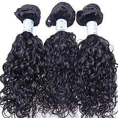 "Luffy Hair 10""-26"" Unprocessed Brazilian Loose Curl Hair Weave Natural Color Virgin Hair Extensions 3pcs/set"