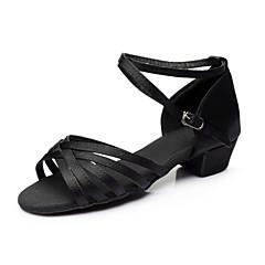 Customizable Women's / Kids' Dance Shoes Satin / Paillette Satin / Paillette Latin Sandals / Heels / Sneakers Chunky HeelPractice /