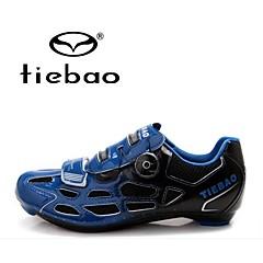 Tiebao Tênis para Ciclismo Sapatos para Ciclismo Homens Anti-Escorregar Respirável Ao ar Livre Bicicleta De MontanhaPele PVC Malha