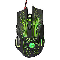 profissional de alta qualidade com fio de jogo do rato botão 7 levou usb óptico com fio de computador rato ratos cabo do mouse