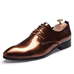 옥스퍼드 남자 신발 웨딩 / 사무실 & 커리어 / 파티/이브닝 레더렛 블랙 / 블루 / 골드 / 버건디