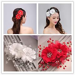 Femme Tulle / Imitation de perle Casque-Mariage / Occasion spéciale Peigne / Fleurs 1 Pièce
