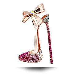 Corée du Sud noces de diamant Broche arc chaussures à talons hauts