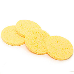 4PCS  Natural Wood Pulp Honeycomb Deeping Clean Powder Puff  Cleansing Cotton Face Wash Cleansing Sponge