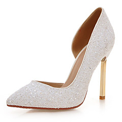 Women's Wedding Shoes Heels / Round Toe Heels Wedding / Dress White