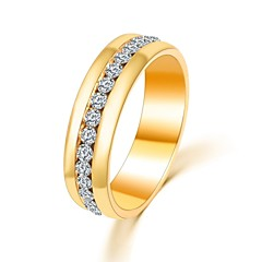 Ring Wedding / Party / Daily / Casual Jewelry Zircon Women Band Rings 1pc,Adjustable