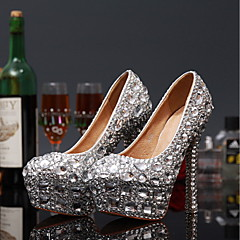 Women's Spring / Summer / Fall / Winter Heels Leather Wedding / Party & Evening Stiletto Heel Crystal Red / White
