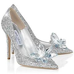 נעלי נשים - בלרינה\עקבים - נצנצים - עקבים - כסוף - משרד ועבודה / שמלה / קז'ואל / מסיבה וערב - עקב סטילטו