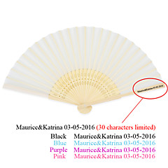 Hot sale Chinese Bamboo Silk Folding Wedding hand Fans - 50 Piece/ Asian Theme Pink / Lilac / Blue / Black