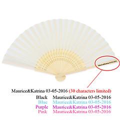 Zahradní motiv / Asijská motiv-Skládaný vějíř / Skládaný vějíř ve tvaru mušle / Klasický vějíř-Hedvábí-Bambus-Ruční ventilátor(Růžová /