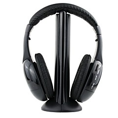 mh2001 hodetelefon 3,5 mm over øret fem i en trådløs med mikrofon FM radio for mp3 / pc / tv