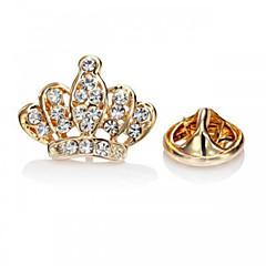 여성 브로치 패션 고급 보석 유럽의 라인석 모조 다이아몬드 합금 Crown Shape 실버 골든 보석류 용 파티 특별한 때 생일 일상 캐쥬얼