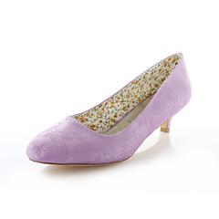Women's Wedding Shoes Heels / Round Toe Heels Wedding / Party & Evening / Dress Blue / Purple / Ivory / Silver