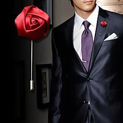 남성용 여성 브로치 크리스탈 합금 패션 레드 블루 핑크 와인 밝은 블루 보석류 결혼식 파티 생일 약혼 일상 캐쥬얼
