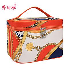אחסון איפור Cosmetic Box / אחסון איפור PU אנימציה Quadrate 21.8x16.7x15.5cm לדעוך שחור / חום / תפוז / שנהב