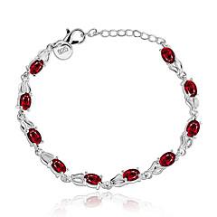 Γυναικεία Βραχιόλια με Αλυσίδα & Κούμπωμα Κράμα Κόκκινο Κοσμήματα Για Πάρτι Καθημερινά Causal 1pc