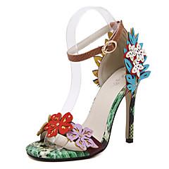 Women's Shoes Stiletto Heel  / Open Toe Sandals Wedding / Office & Career / Party & Evening / Dress Green