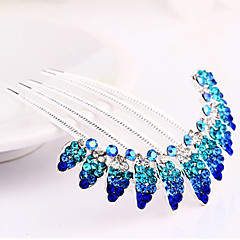 Blue Hair Combs Rhinestone Wedding/Party Headpiece Hair Comb for Wedding Party Hair Jewelry