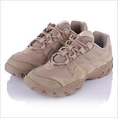 נעלי טיולי הרים לגברים נגד החלקה ריפוד חסין בפני שחיקה טבע עור אמיתי צעידה