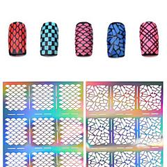 1 Neglekunst klistremerke Utstanset Manikyr Sjablong 3D Negle Akryl Forme Blomst Sminke Kosmetikk Neglekunst Design