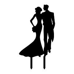 Kakepynt Ikke-personalisert Klassisk Par Akryl Bryllup Jubileum utdrikkingslag Bursdag Hvit SvartStrand Tema Hage Tema Asiatisk Tema