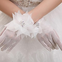 Wrist Length Fingertips Glove Tulle Bridal Gloves Party/ Evening Gloves Spring Summer Fall Winter lace