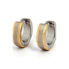 Серьги-кольца Нержавеющая сталь Титановая сталь Позолота Мода Золотой/Серебряный Бижутерия Повседневные Спорт 1 пара