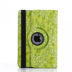 360 graden druif grain pu lederen flip beschermhoes voor de iPad mini 4 (verschillende kleuren)
