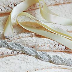 Cetim Casamento / Festa/Noite / Dia a Dia Faixa-Miçangas / Apliques / Pedraria Feminino 98 ½polegadas(250cm)Miçangas / Apliques /