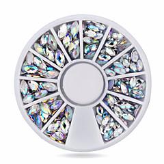 Jóias de Unhas-Adorável- paraDedo- deAcrilico- com1wheel oval ab nail decorations-6cm wheel- (cm)