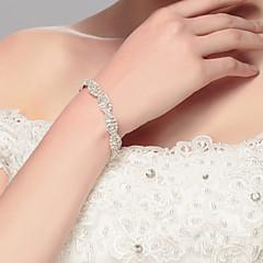 Women's Chain Bracelet Silver / Alloy Rhinestone