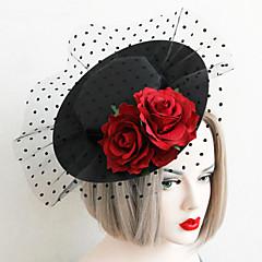 Dame / Blomsterpige Blonde / Stoff Headpiece-Bryllup / Spesiell Leilighet Hatter 1 Deler