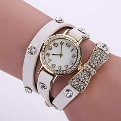 Lady's Flower Butterfly Leather Band Analog Quartz Bracelet Wrist  Watch for Party