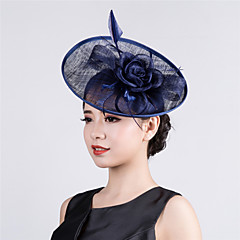 Womens Sinamay Flower Fascinator Cocktail Wedding Hat
