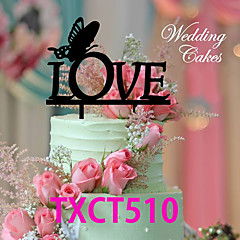 Cake Toppers Love Butterfly 2 Colors