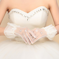 Wrist Length Fingertips Glove Nylon Bridal Gloves Party/ Evening Gloves Spring Fall Winter Sequins
