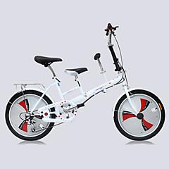 Folding Bikes Pyöräily 3 Speed 20 tuumaa Unisex Aikuinen Tuplalevyjarru Etuhaarukka Monokokki Tavallinen Teräs AlumlinlseosPunainen