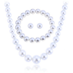 Women's Jewelry Set Necklace/Earrings Strands Necklaces Elegant Bridal Pearl Circle Earrings Necklace Bracelet For Wedding PartyWedding