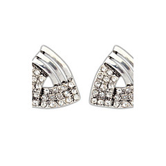 Europe Exaggerated Personality Diamond Triangle Alloy Stud Earrings for Women