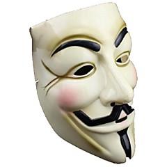 beliebten gelben V wie Vendetta Maske aus Plastik für Halloween