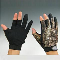 kort 3 fingre camouflage Jagt skridsikre handsker til XXL