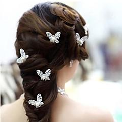 Mulheres / Menina das Flores Liga / Imitação de Pérola Capacete-Casamento / Ocasião Especial Alfinete de Cabelo 4 Peças
