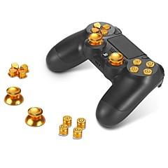 소니 PS4의 DUALSHOCK 4 컨트롤러 모드 키트 버튼 + 썸 스틱 엄지 그립과 크롬 D-패드 abxy 금속 단추