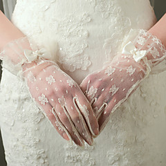 Wrist Length Fingertips Glove Nylon Bridal Gloves / Party/ Evening Gloves Spring / Summer / Fall / Winter Ivory lace