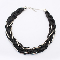 European and American Fashion Exaggerated  Necklace Black Rope Women Statement Jewelry