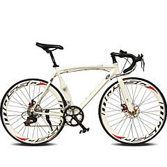 Road Bikes Pyöräily 14 Nopeus 26 tuumaa/700CC 50mm Miesten Nais- Unisex Aikuinen SHIMANO TX30 Tuplalevyjarru Tavallinen Monokokki