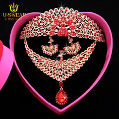 סט תכשיטים לנשים / יוניסקס יום שנה / חתונה / ארוסים / יום הולדת / מתנה / מסיבה / יומי / אירוע מיוחד סטי תכשיטים נירוסטה / סגסוגתמולטי