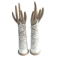 Elbow Length Fingerless Glove Cotton Bridal Gloves Party/ Evening Gloves Spring Summer Fall Winter lace