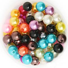 beadia 92g (kb 200db) Az ABS gyöngyház gyöngyök 10mm kerek 15 színben u pick műanyag laza gyöngyök DIY ékszer kiegészítők