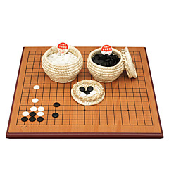 """המלוכה רח סין כלי שחמט מעץ דו-צדדית מסוג ב 2.5 ס""""מ הלוח לשימוש כפול דו צדדית לוח הענן החדש / דשא לורה"""